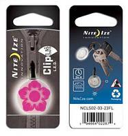 Карабин светодиодный Nite Ize ClipLit Designs цветок фуксия/белый NI652
