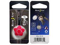 Карабин светодиодный Nite Ize ClipLit Designs цветок красный/белый NI742