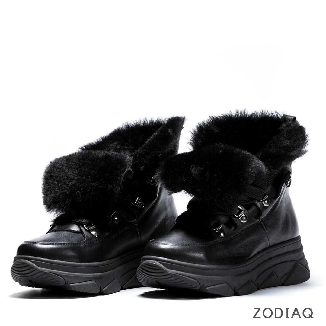 Ботинки женские зимние кожаные натуральный мех b 9258 - 2s 36 -23.5см