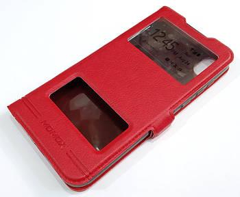 Чехол книжка с окошками momax для Honor 8S Красный
