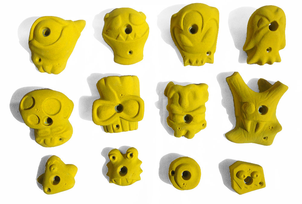 Зацепы для Скалодромов универсальные , зацепы для детского скалодрома , Зацепы альпинистские зеленый