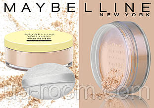 Рассыпчатая пудра для лица Maybelline White Refine Waterproof Loose Powder