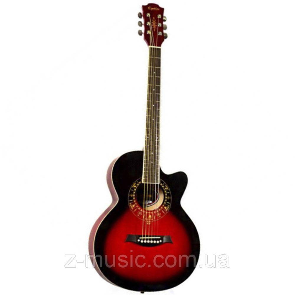 Гитара акустическая Equites EQ700C RD (медиатор и струна в подарок), синий