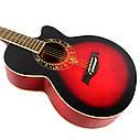 Гитара акустическая Equites EQ700C RD (медиатор и струна в подарок), синий, фото 2