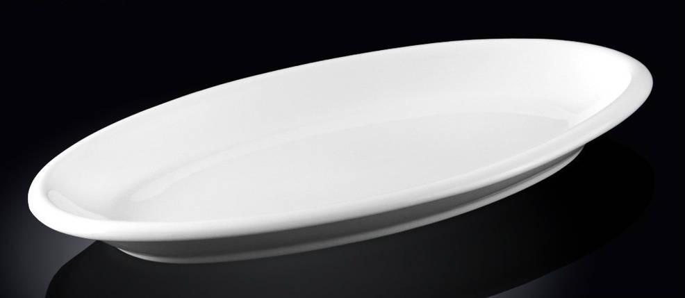 Блюдо сервировочное Wilmax овальное белое 30,5 см, фото 2