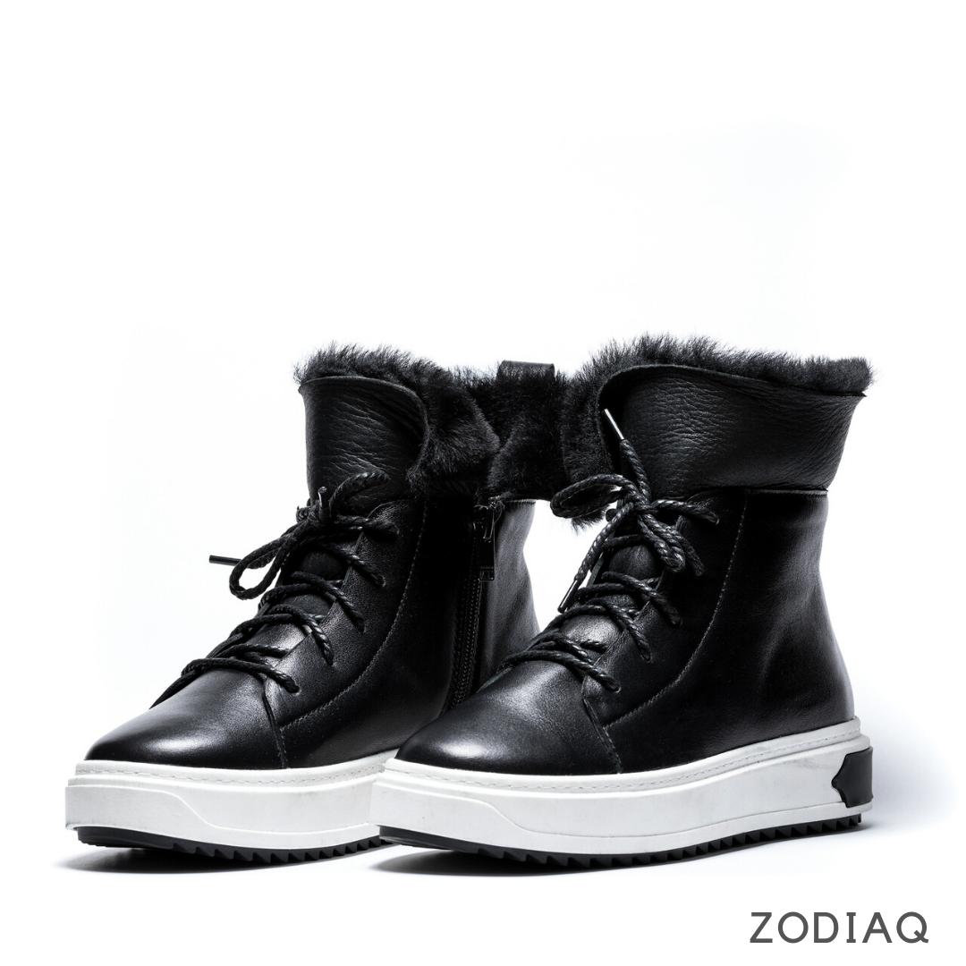 Ботинки женские зимние кожаные натуральный мех b 5547 - 2s 37-24.2 см
