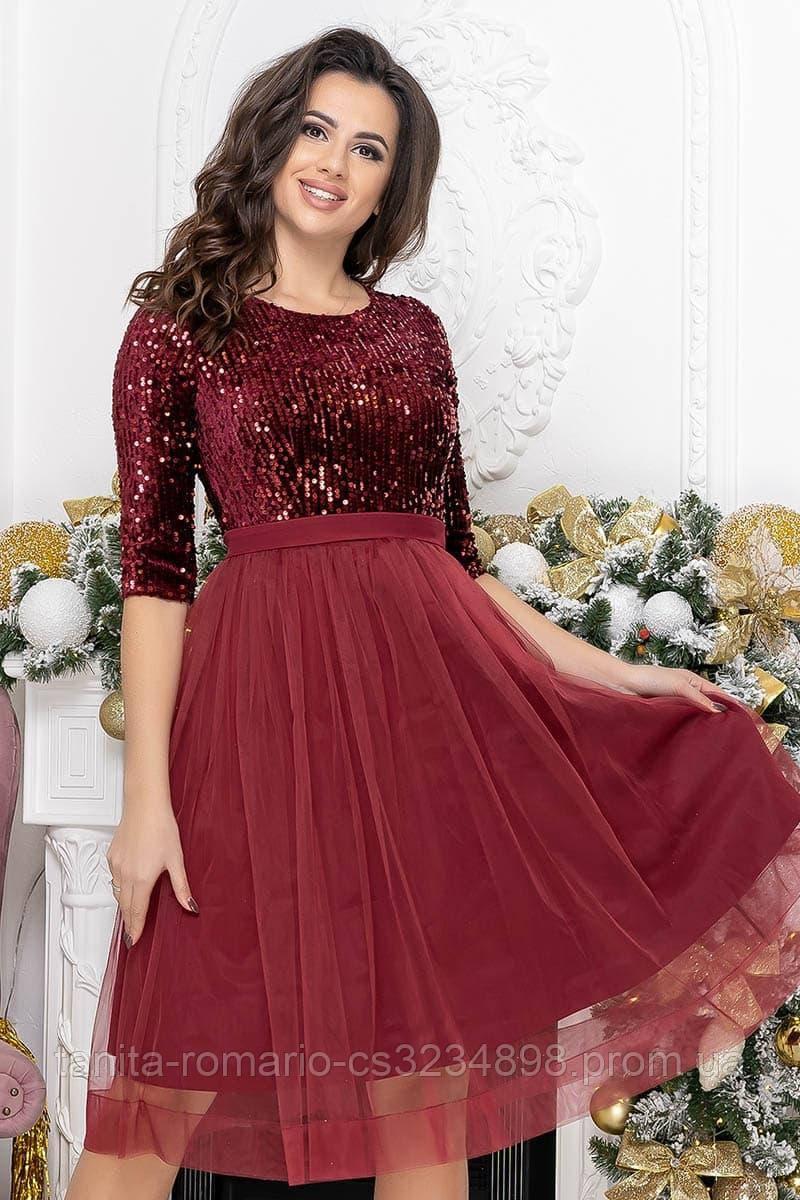 Коктейльна сукня Діора бордового кольору