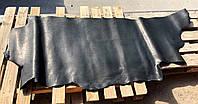 Юфть шорно-седельная ременная натуральная кожа в полукожах, Черный, 2,5 мм.