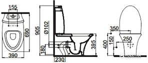 Унитаз напольный IDEVIT Rena сиденьемс функц. биде. SC (SETK2904-0205-081-1-6200) IDEVIT, фото 2