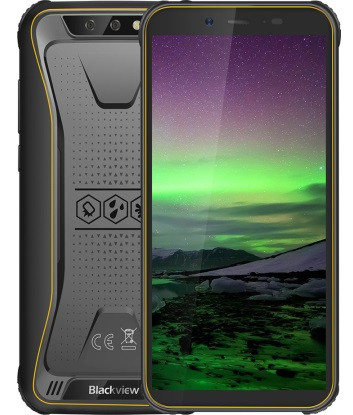 "Смартфон Blackview Bv5500 Pro 3/16Gb Yellow, 8/5Мп, IP68, 4 ядра, 2sim, экран 5.5"" IPS, 4400mAh, GPS, 4G"