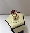 Золотой комплект с рубином Ребэкка, фото 4