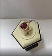 Золотой комплект с рубином Ребэкка, фото 6
