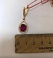 Золотой комплект с рубином Ребэкка, фото 8