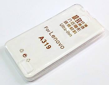 Чехол для Lenovo A319 силиконовый ультратонкий прозрачный