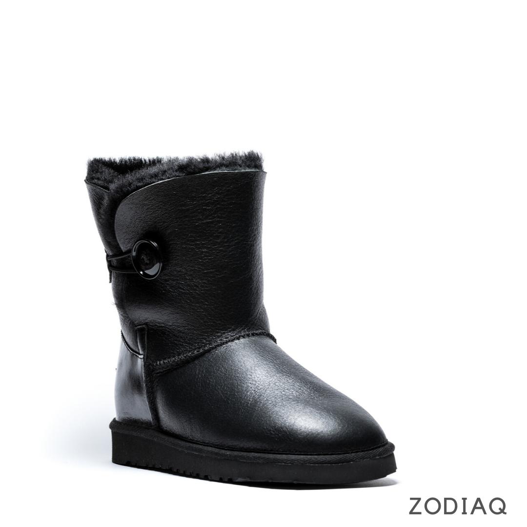 Угги зимние женские кожаные на меху ug 7 - 2-2 mex 39 - 25.5 см