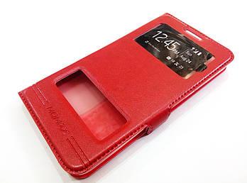 Чехол книжка с окошками momax для Lenovo A606 красный