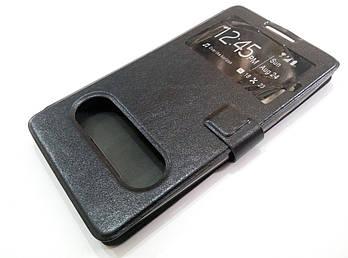 Чехол книжка с окошками momax для Lenovo A880 / A889 черный