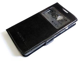 Чехол книжка с окошками momax для Lenovo A1000 / A1000m Vibe A черный