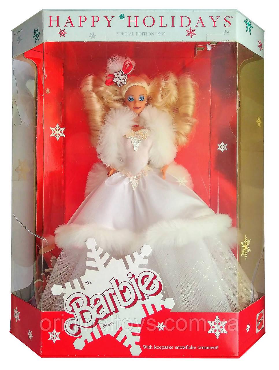 Коллекционная кукла Барби Праздничная Holiday Barbie 1989 Mattel 3523