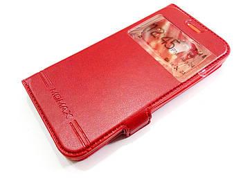 Чехол книжка с окошком momax для Lenovo A Plus / a1010 / A1010a20 красный