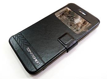 Чехол книжка с окошком momax для Lenovo A5000 черный