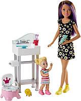 Игровой набор Барби Уход за малышами Кукла Скиппер Няня / Barbie Skipper Babysitters FJB01