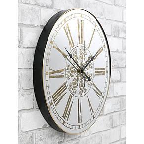 Настінні годинники з дзеркалом 45 см Retro Mirror, фото 2