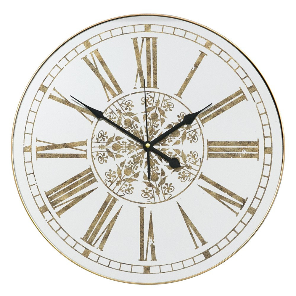 Настенные часы с зеркалом 45 см Retro Mirror