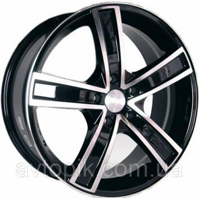 Литые диски Racing Wheels H-412 R15 W6.5 PCD5x110 ET35 DIA65.1 (BK-F/P)