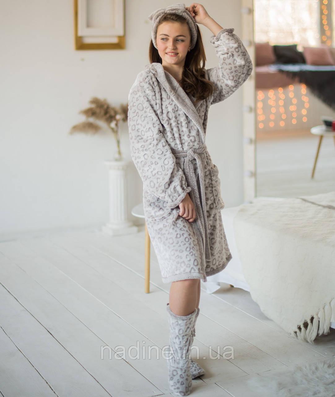 Халат Cream подростковый Eirena Nadine (455-64) рост 158-164 бежевый + сапожки