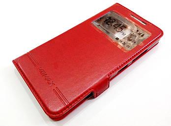 Чехол книжка с окошком Momax для Lenovo A6600 красный
