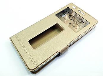 Чехол книжка с окошками momax для Lenovo K3 Note / A7000 золотой