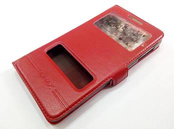 Чехол книжка с окошками momax для Lenovo P780 красный