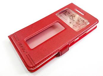 Чехол книжка с окошками momax для Lenovo S60 красный