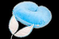 Подушка для кормления BlueBunny, плюшевая с ушками