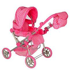 Коляска для куклы Melogo 9368/017 pink/white