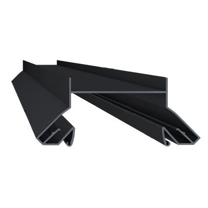 Профиль алюминиевый для натяжных потолков - LumFer N01-WH/BK, черный, для черных ниш. Длина профиля 2 м.