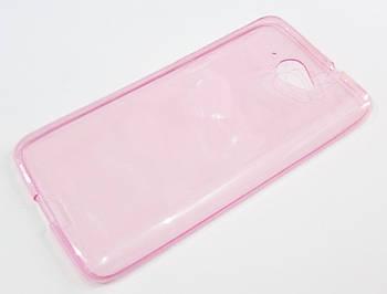 Чехол для Lenovo S930 силиконовый ультратонкий прозрачный розовый