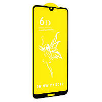 Стекло 6D Huawei Y7 2019 - черная рамка
