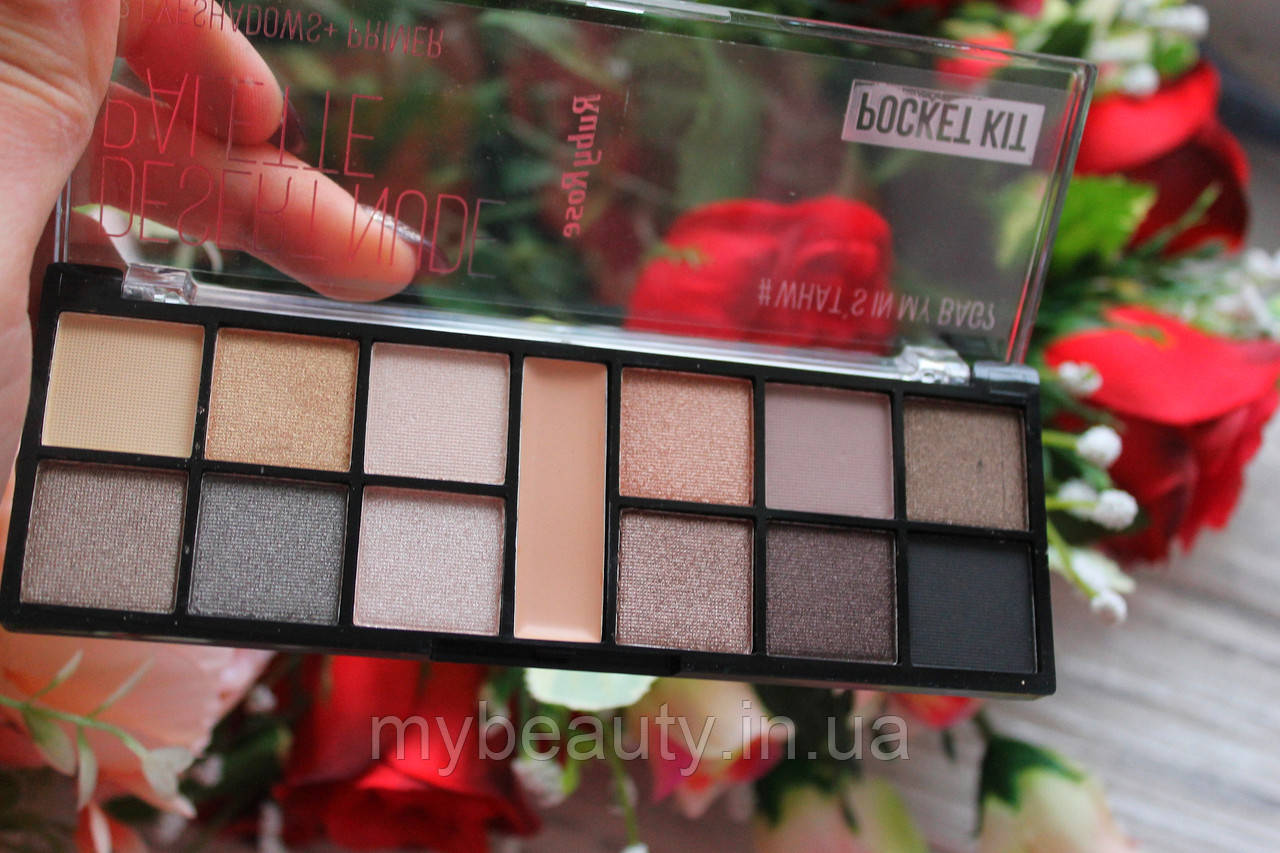 Палетка теней для век с праймером Ruby Rose Desert Nude Palette Pocket Kit