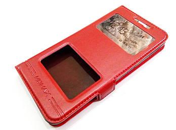Чехол книжка с окошками momax для Lenovo K5 / K5 Plus / A6020 Красный