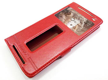Чехол книжка с окошками momax для Lenovo K4 Note / Vibe X3 Lite / a7010, a7010a48 красный
