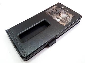 Чехол книжка с окошками momax для Lenovo K5 Note a7020 / a7020 / K5 Note Pro черный