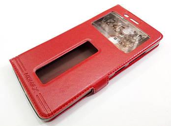 Чехол книжка с окошками momax для Lenovo K5 Note a7020 / a7020 / K5 Note Pro красный