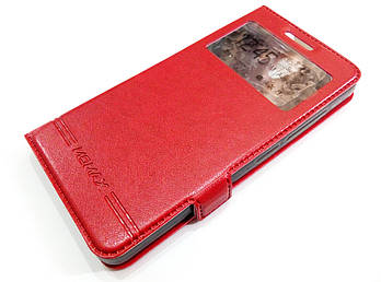 Чехол книжка с окошком momax для Lenovo Vibe S1 Lite красный