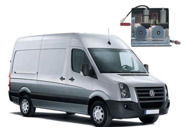 Электропривод сдвижной двери для микроавтобусов двомоторный для Wolkswagen Crafter Германия BOSCH