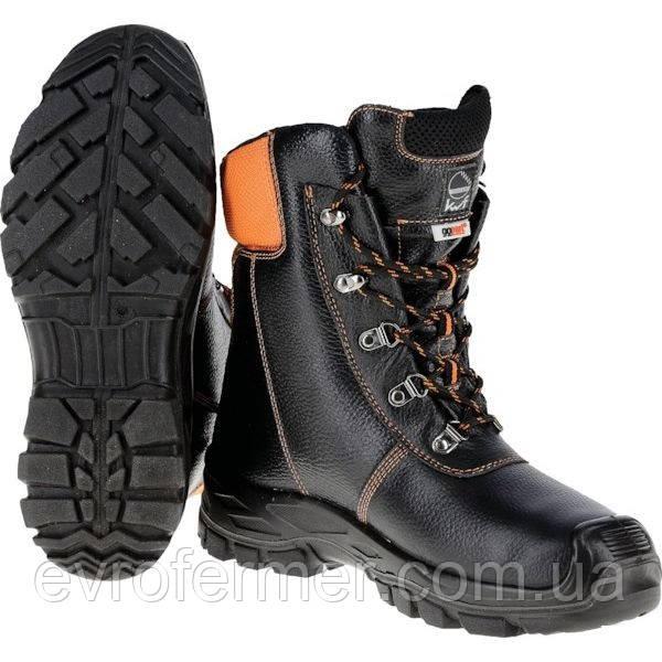 Шкіряні черевики для роботи в лісі з захистом від порізів ланцюговою пилою Chainsaw boots