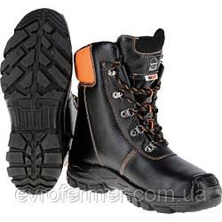 Кожаные ботинки для работы в лесу с защитой от порезов цепной пилой Chainsaw boots