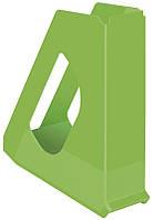 Лоток вертикальный Esselte VIVIDA шириной 60 мм зелёный