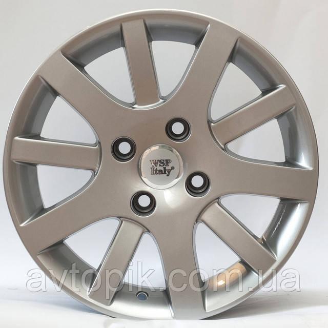 Литые диски WSP Italy Peugeot (W850) Lyon R15 W6.5 PCD4x108 ET28 DIA65.1 (silver)